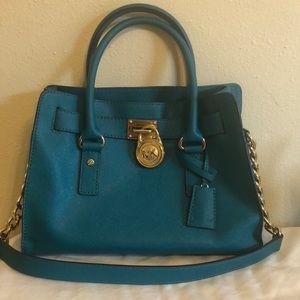 Michael Kors saffiano leather medium Hamilton bag